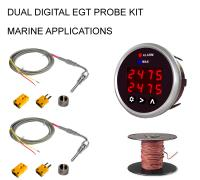 EGT 2-Channel Digital DPG-SD Series Pyrometer Gauge + Probe Kit - Marine Series