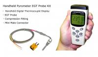 EGT Digital Pyrometer Gauge Kit - Handheld Single Channel