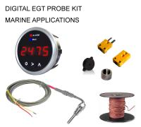 EGT Digital DPG-SD Series Pyrometer Gauge + Probe Kit - Marine Series