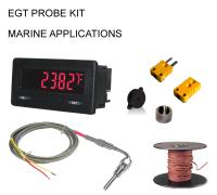 EGT Digital PMDW Series Pyrometer Gauge + Probe Kit - Marine Series