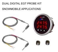 EGT 2-Channel Digital DPG-SD Series Pyrometer Gauge + Probe Kit - Snowmobile