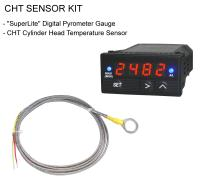 CHT Digital Pyrometer Gauge + CHT-WS Cylinder Head Temperature Sensor Kit