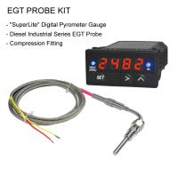 EGT Digital Pyrometer Gauge + Probe Kit - Diesel Commercial Industrial Series DP