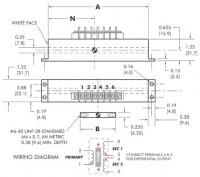 """LVDT AC Operated 1.25"""" Square Body Heavy Duty SQ-1250 Series"""