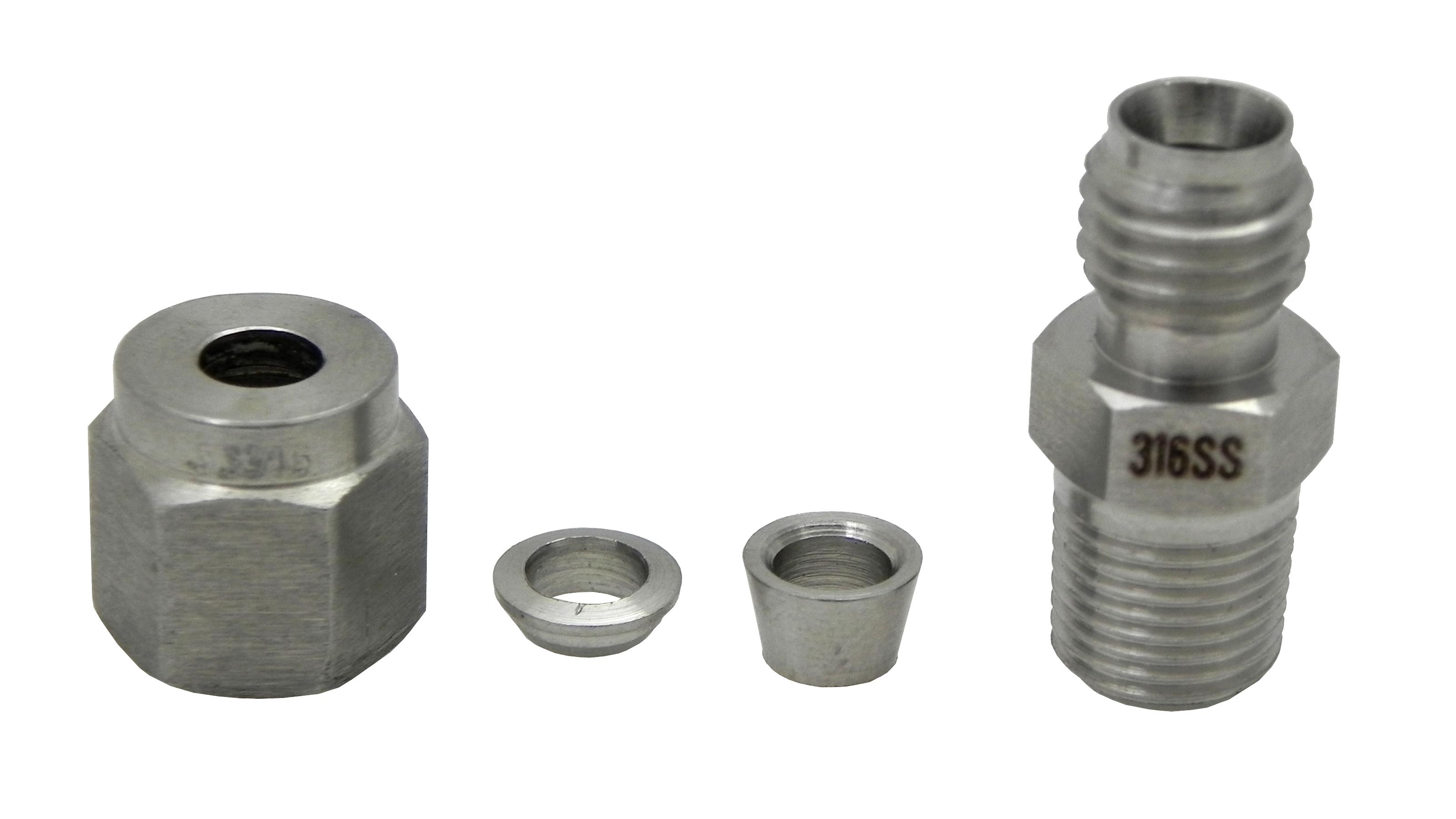 Thermocouple compression fitting adapter quot npt thread