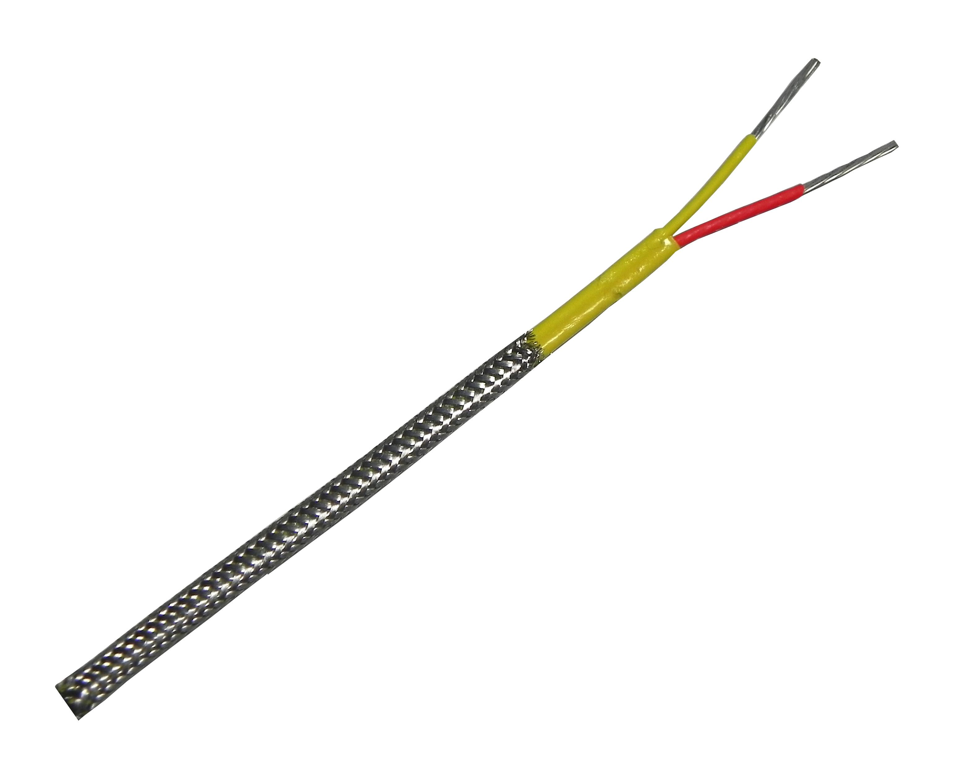 Thermocouple Extension Wire : Type k thermocouple extension wire with stainless steel