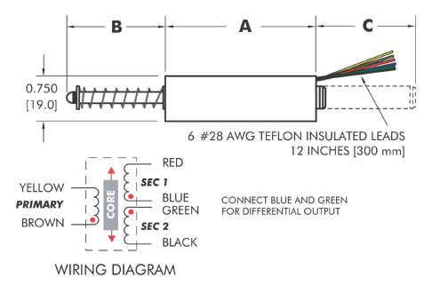 Economy Spring Loaded AC Operated GSA750 Series – Lvdt Wiring Diagram